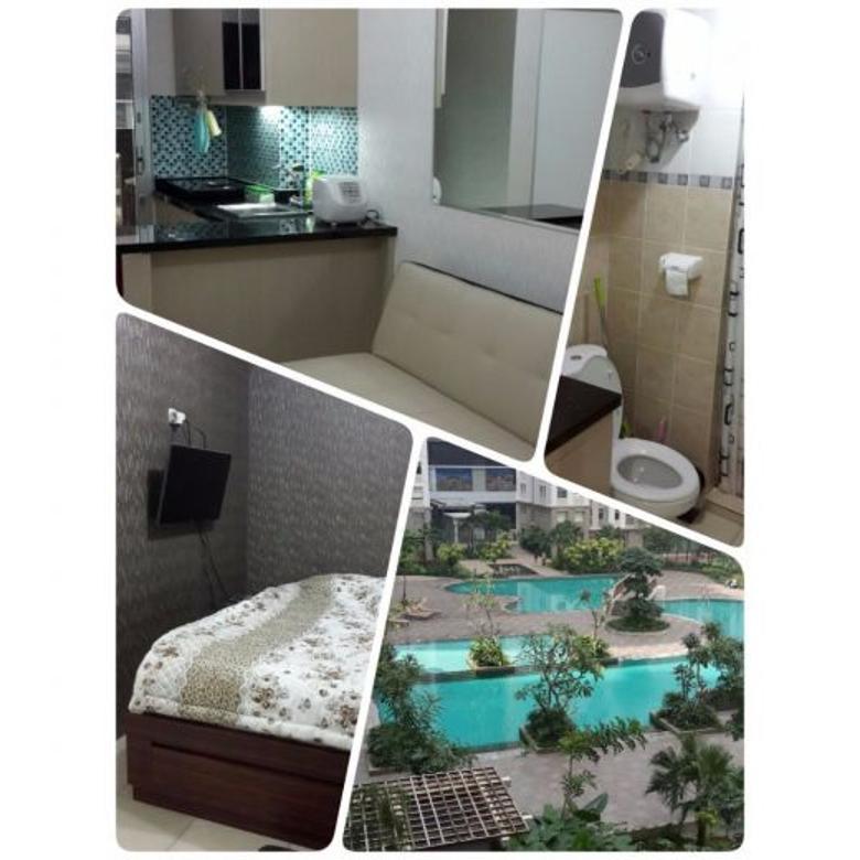 Apartemen Green Bay 2 Kamar 42m2 Tower F Tahap 2 View Pool