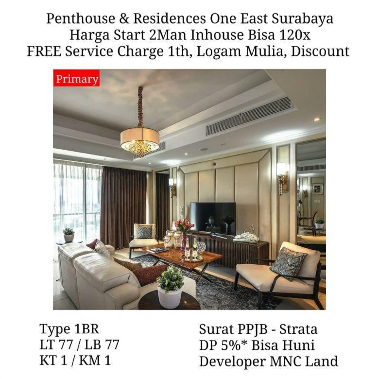 apartemen penthouse dan residences one east surabaya murah