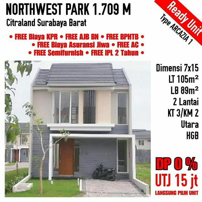 North West Park Citraland Surabaya Barat 2 Lantai Murah Baru