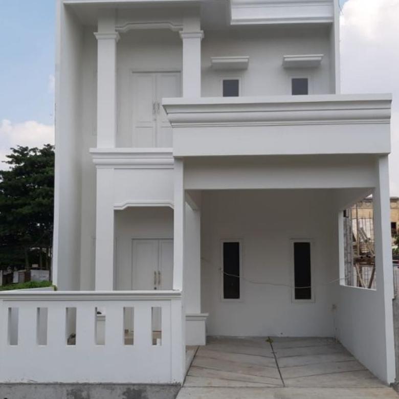 Rumah 100% baru 2 lantai bebas banjir dalam komplek besar rade