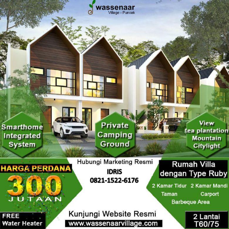 Jual Villa 2 lantai 300jutaan view citylight di Puncak Cipanas