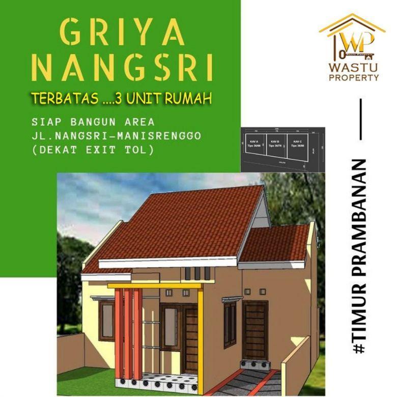 Unit rumah murah dekat jalan raya Nangsri