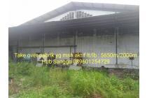 Dijual Pabrik Masih Aktif di Kawasan Industri Jatake Tangerang