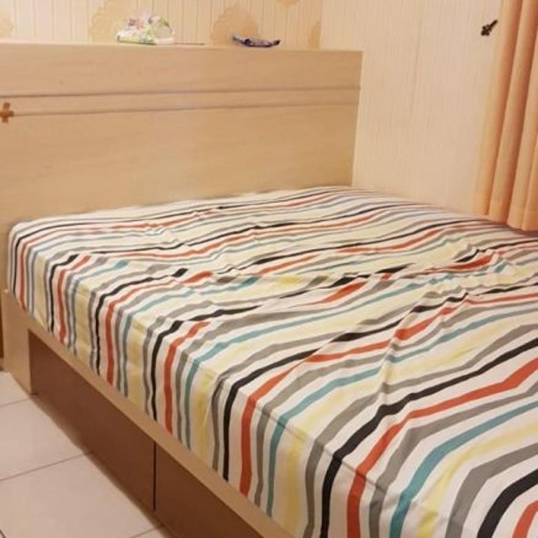 MURAH ! Apartemen 2br full furnish, lantai rendah & view pool.