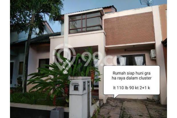 Dijual Rumah Nyaman Asri Dalam Cluster Graha Raya, Tangerang Selatan 17825823