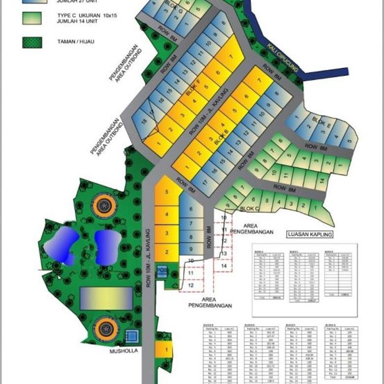 Tanah Kavling murah, asri dan nyaman di Cijeruk Bogor