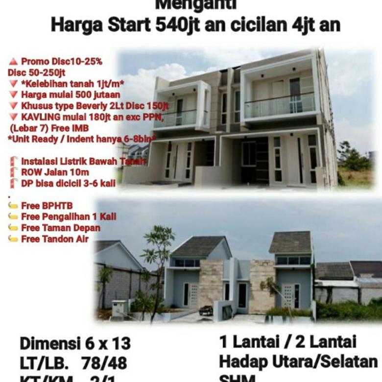 rumah the menganti residence gresik dekat surabaya siap huni
