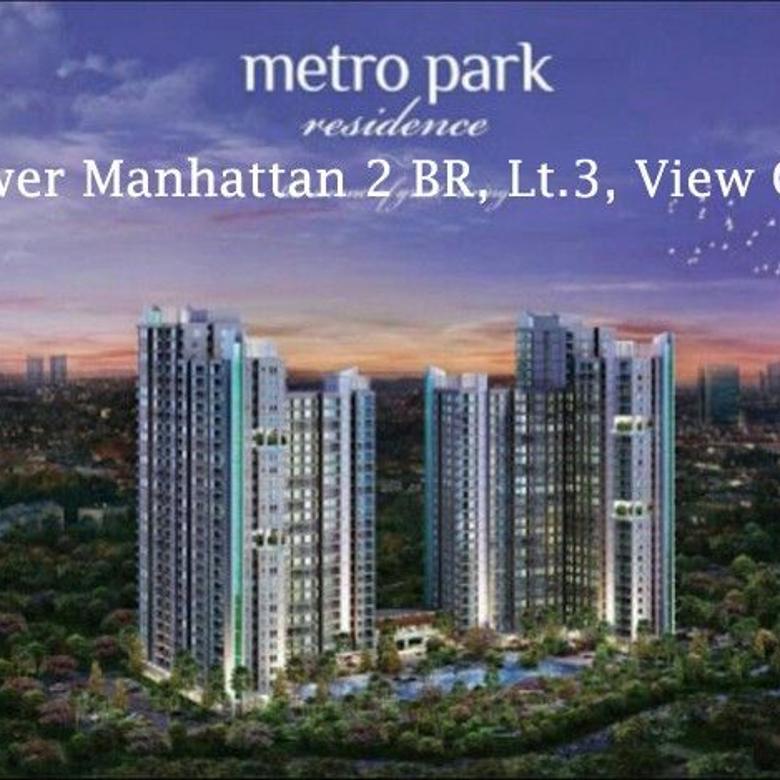 Apartemen Metro Park Tower Manhattan 2 BR Lantai 3 View City MP2688JL