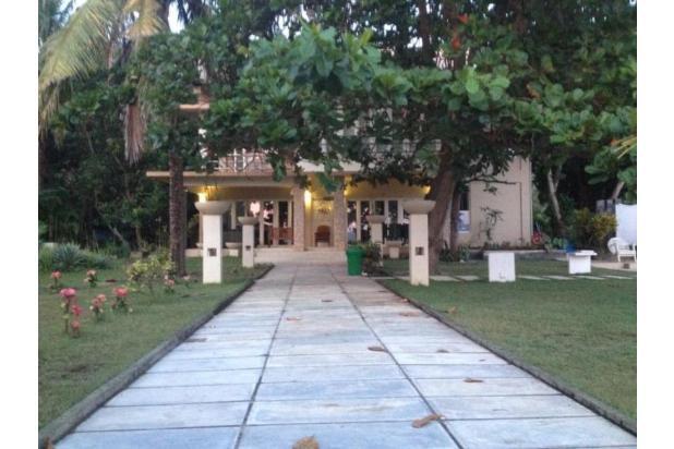 villa luas dan mewah pinggir pantai di sekotong view 3 gili