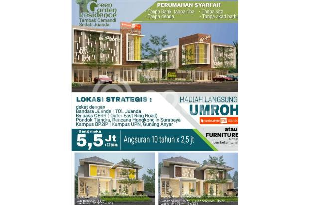 Rumah Minimalis Syariah Cemandi dekat Bandara 3 Juanda tanpa Bank 14305126
