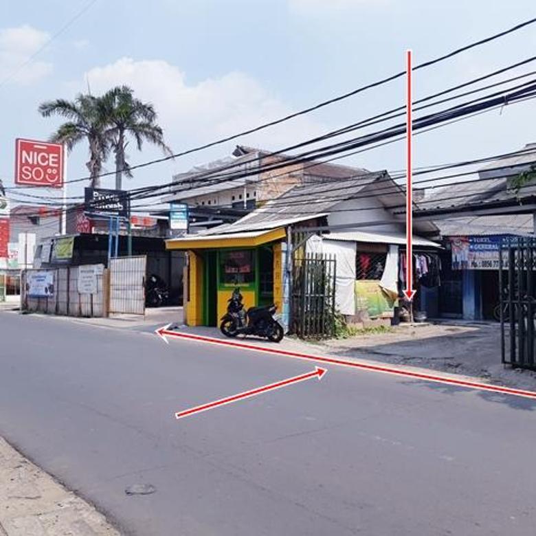 Tanah Komersial di Pinggir Jalan Raya Utama WR Supratman Dekat Stasiun KA Pondok Ranji