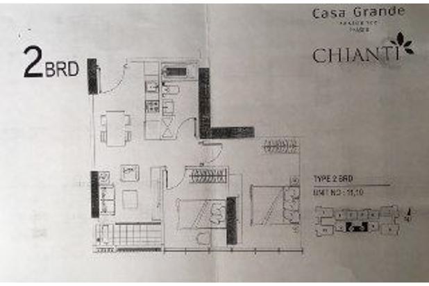 Dijual Apartemen Casa Grande Residence Phase 2 2BR (New Tower Chianti) 17071396