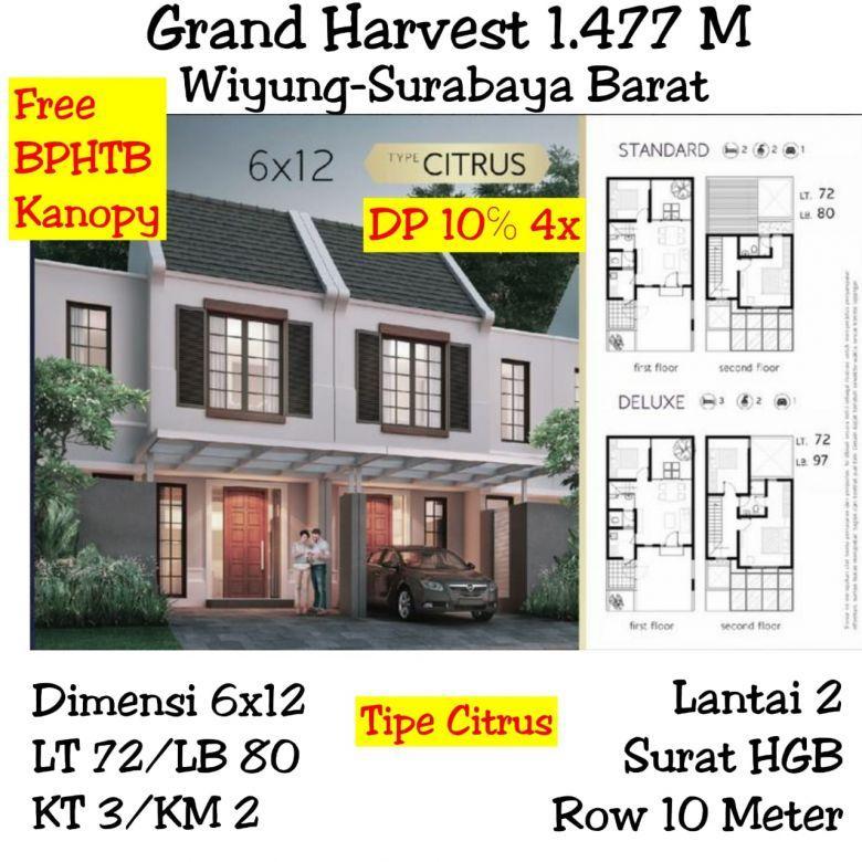 Rumah Grand Harvest Wiyung surabaya