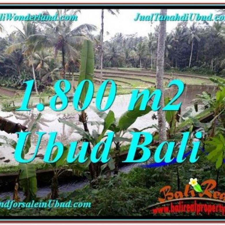 1.800 m2 View Sawah  1,85 jt/m di Ubud Tampak Siring FUBD616