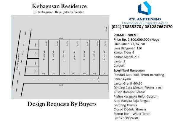 Rumah Residence Di Kebagusan Raya (owner) 2058269