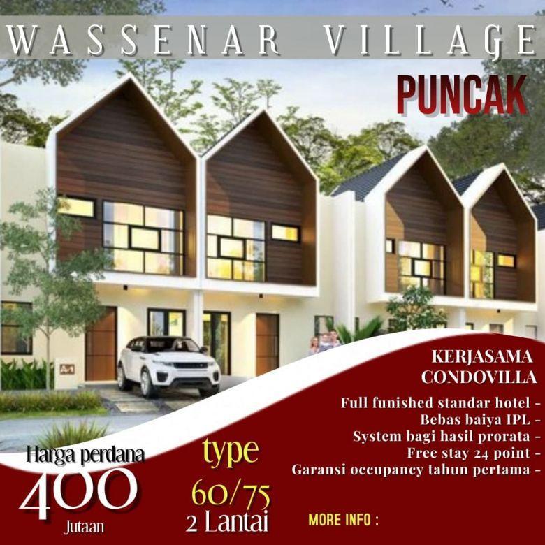Villa 2 Lantai Harga 400 Jt-an Berkabut DiKetinggian 1035 mdpl
