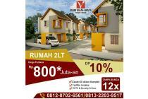 Rumah Baru 2 Lantai Promo Dekat Tol Buah Batu Bandung