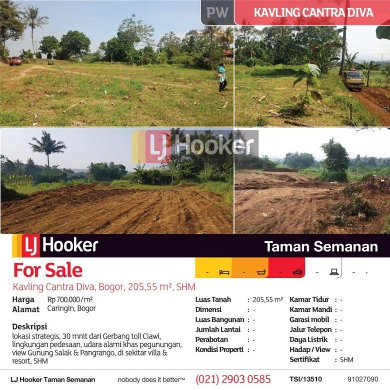 Kavling Cantra Diva, Bogor, 205,55 m², SHM