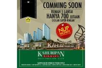 new cluster Kahuripan Nirwana rumah type 52/90 hanya 700 jtan. DP HANYA 5%