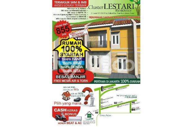RUMAH 2 LANTAI DI CIJANTUNG, JAKARTA TIMUR   CLUSTER LESTARI RESIDENCE 22287251