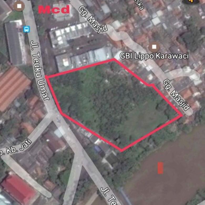 Tanah di Jalan Teuku Umar dekat Kali Cisadane Karawaci