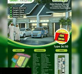 rumah murah syariah harga 400 jtan di Cibubur